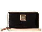Dooney & Bourke Patent Zip Around Credit Card Phone Wristlet