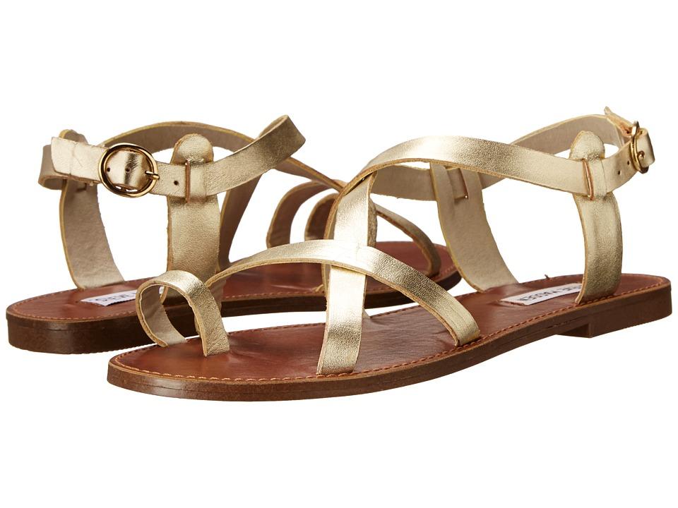 Steve Madden Agathist Sandal (Gold Leather) Sandals