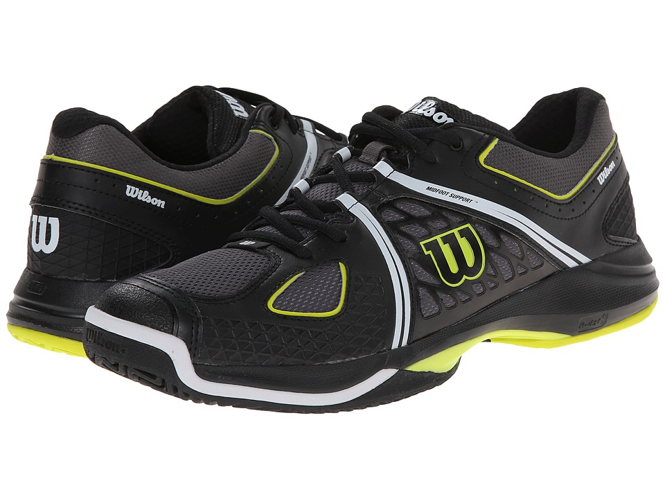 Wilson Nvision Black/Solar Lime Mens Tennis Shoes