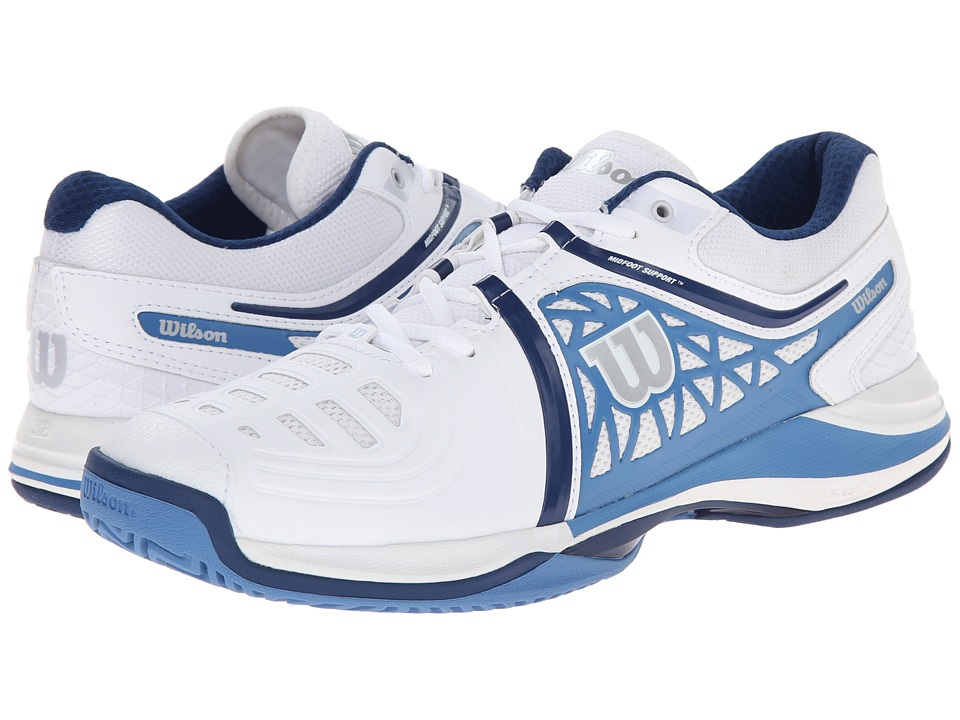Wilson Nvision Elite White/Denim/Navy Mens Tennis Shoes