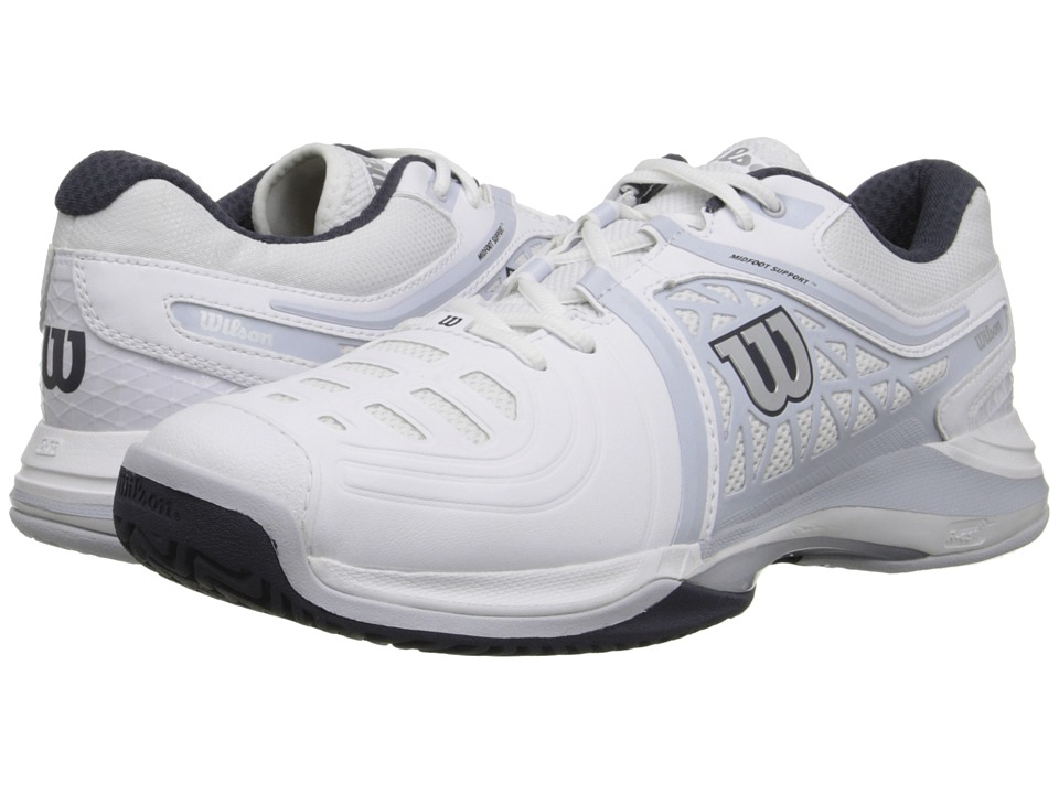 Wilson Nvision Elite White/Gray/Coal Mens Tennis Shoes