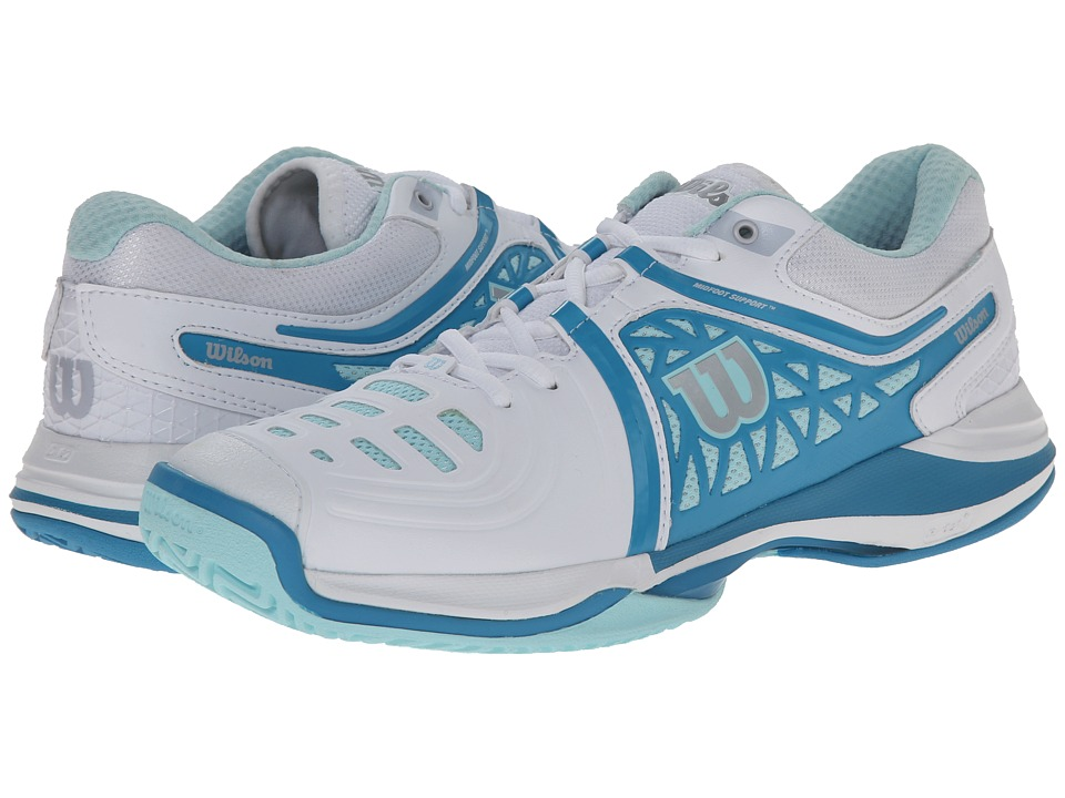 Wilson Nvision Elite White/Mint Ice Womens Tennis Shoes