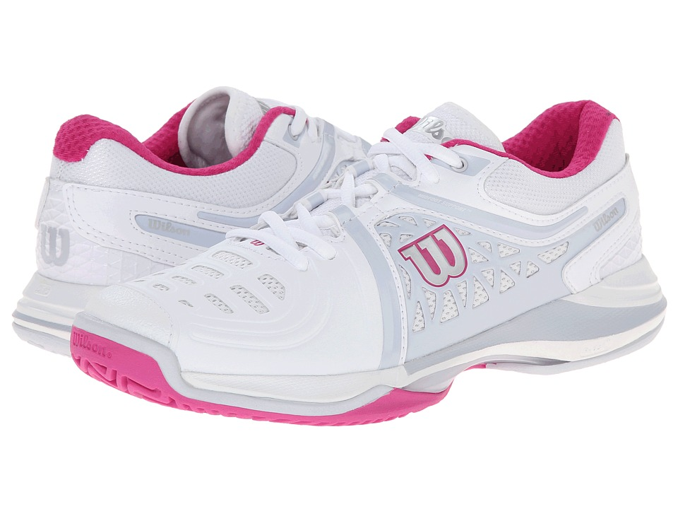 Wilson Nvision Elite White/Pearl Gray Womens Tennis Shoes