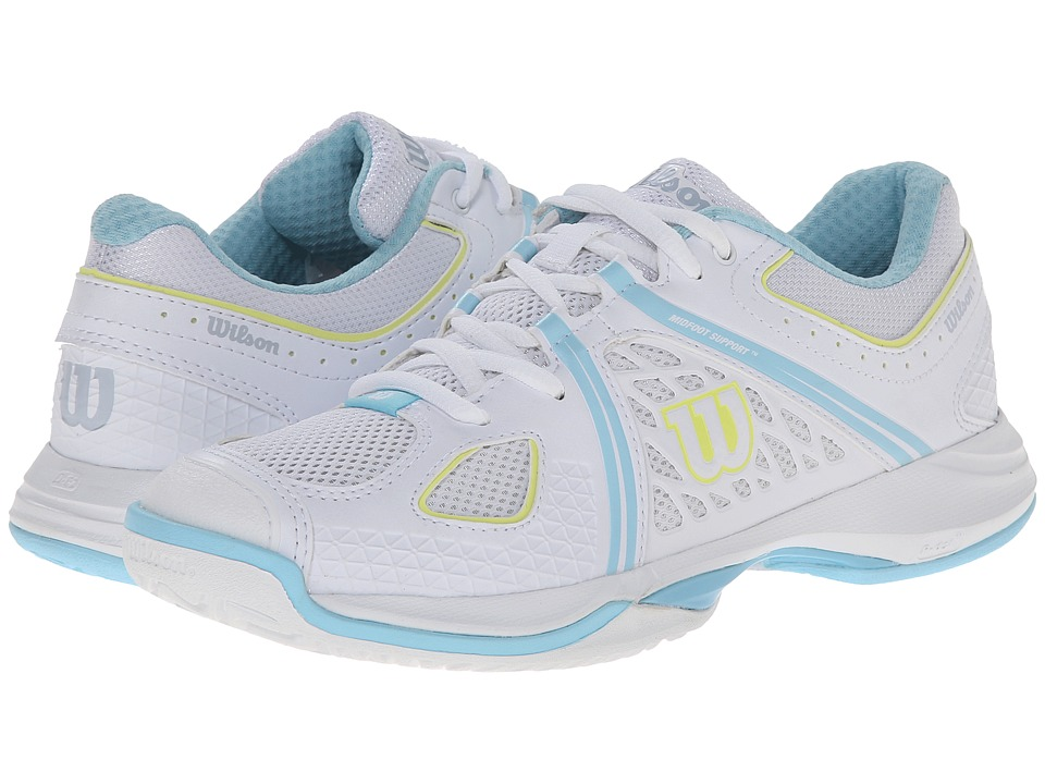 Wilson Nvision White/Turquoise Womens Tennis Shoes