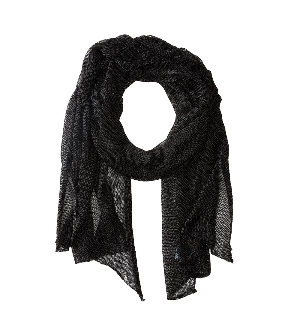 Betsey Johnson - Blue by Betsey Love Liquid Mesh Wrap (Black) Scarves