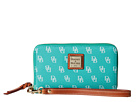 Dooney & Bourke Gretta Zip Around Credit Card Phone Wristlet