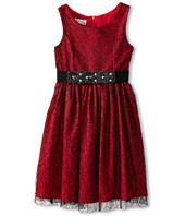 Pippa & Julie  Red and Lace Dress (Little Kids/Big Kids)