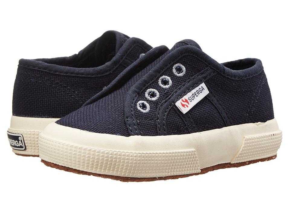 Superga Kids 2750 COTJ Slip On Infant/Toddler/Little Kid/Big Kid Navy Kids Shoes