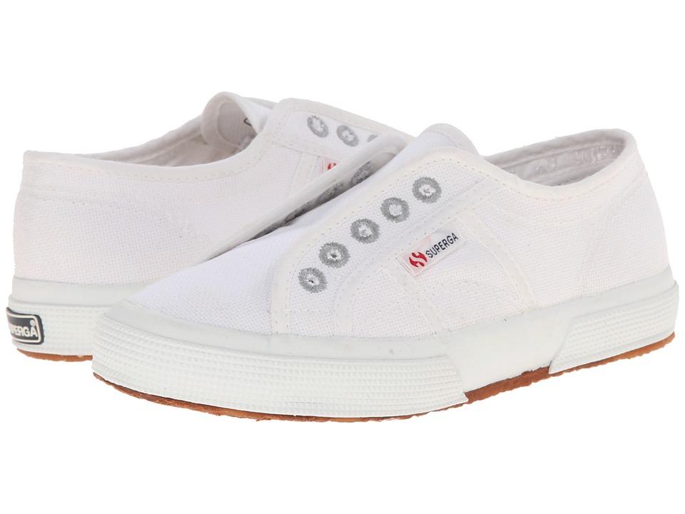 Superga Kids 2750 COTJ Slip On Infant/Toddler/Little Kid/Big Kid Total White Kids Shoes