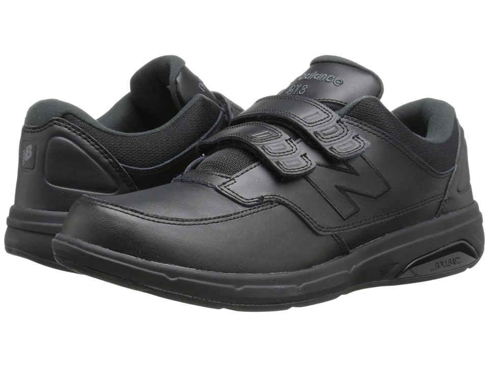 New Balance - MW813 Hook and Loop (Black) Mens Walking Shoes