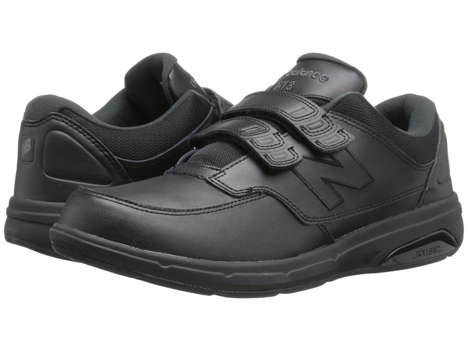 New Balance - MW813 Hook and Loop (Black) Mens Walking Shoes