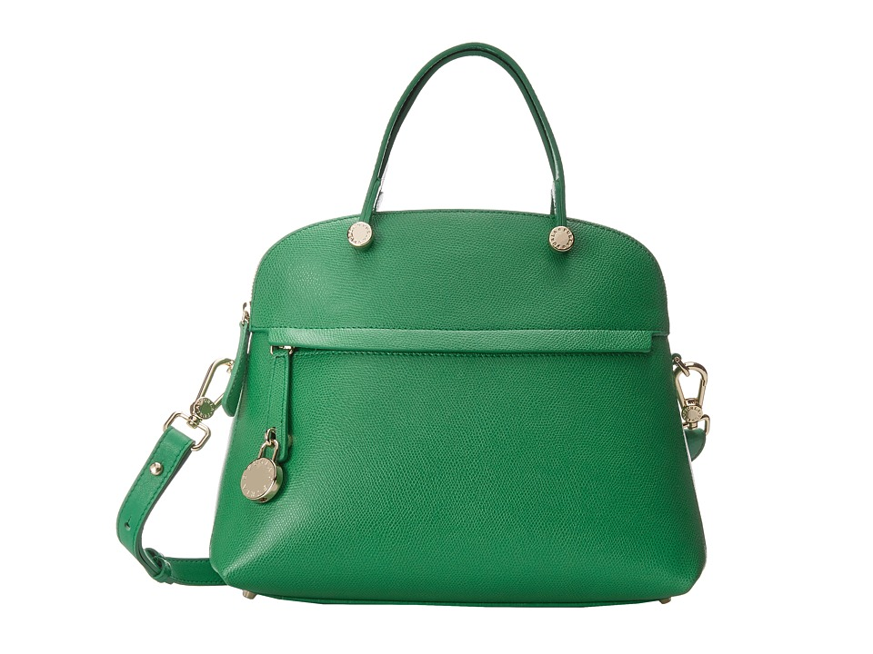 Furla - Piper Medium Dome (Emerald) Satchel Handbags