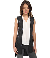 Vera Wang - Sleeveless Vest w/ Scattered Swarovski Embellishment