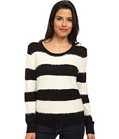 TWO by Vince Camuto - Jersey Stripe Eyelash Yarn Pullover