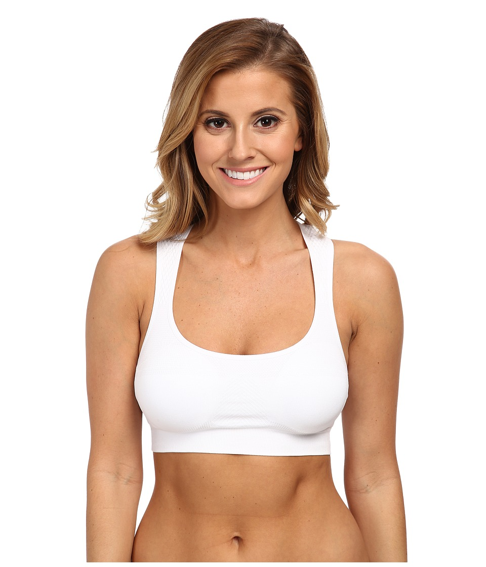 Jockey Active Performance Push-Up Seamless Sports Bra (White) Women