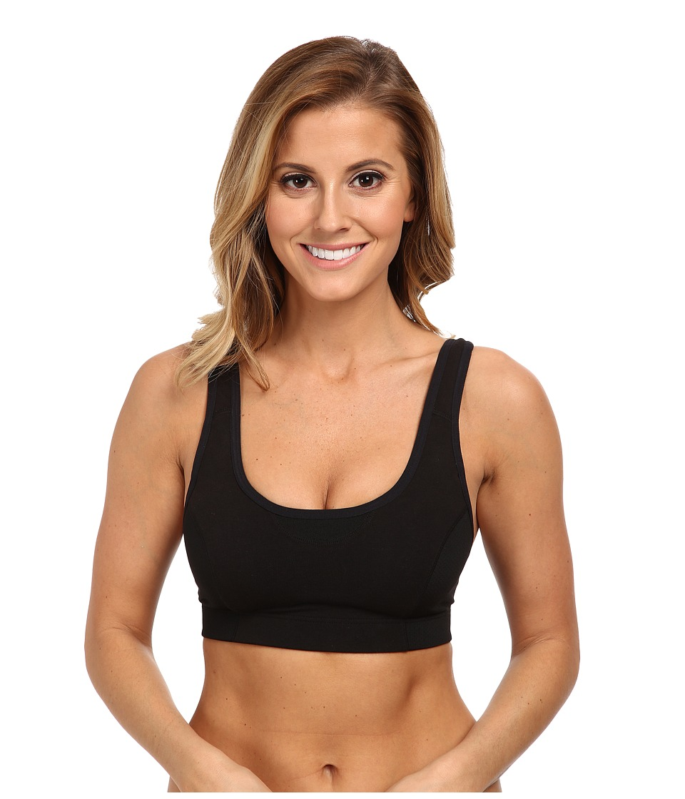 Jockey Active Wicking Cotton Comfort Sports Bra (Black) Women