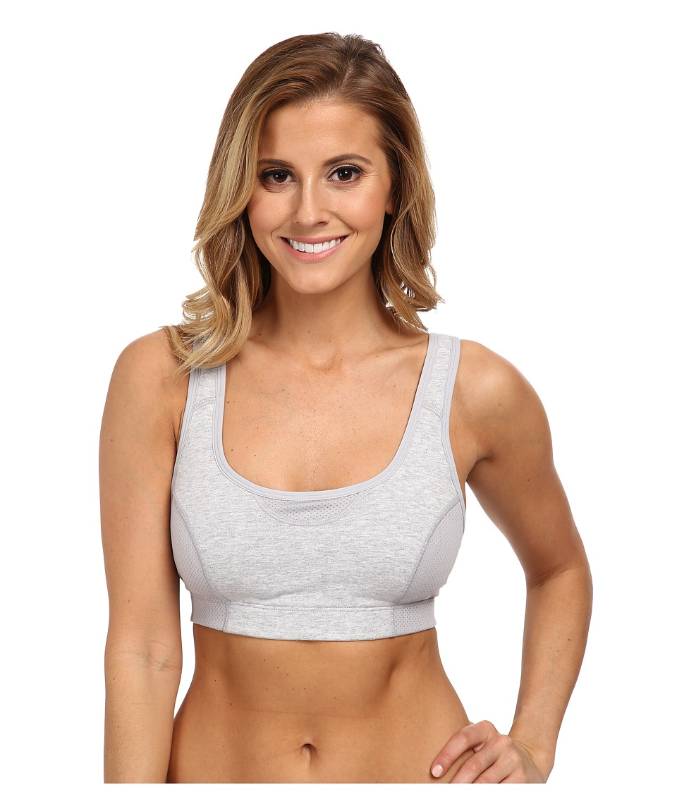 Jockey Active Wicking Cotton Comfort Sports Bra (Heather Grey) Women