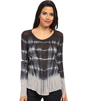TWO by Vince Camuto - Long Sleeve Tie-Dye Tunic with Hand Braiding