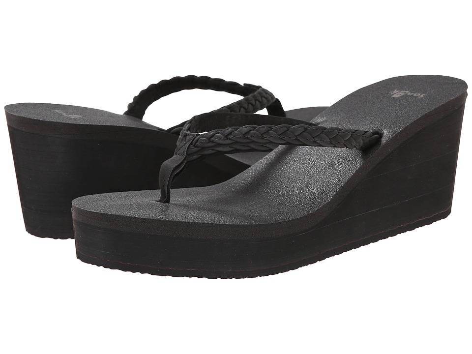 Sanuk - Yoga Braided Wedge (Black) Women