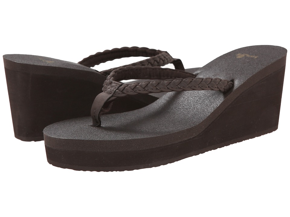 Sanuk - Yoga Braided Wedge (Brown) Women