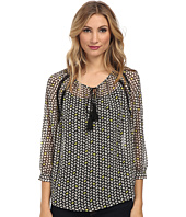 TWO by Vince Camuto - Chevron Beans Peasant Blouse