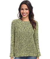 TWO by Vince Camuto - Long Sleeve Marled Half Cardigan Stitch Pullover