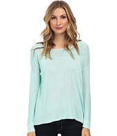 TWO by Vince Camuto - Plaited Boatneck Pullover with Pointelle Yoke