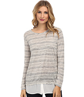 TWO by Vince Camuto - Shirttail Hem Stripe Tee