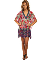 Badgley Mischka - Nadia V-Neck Beaded Tunic Cover-Up