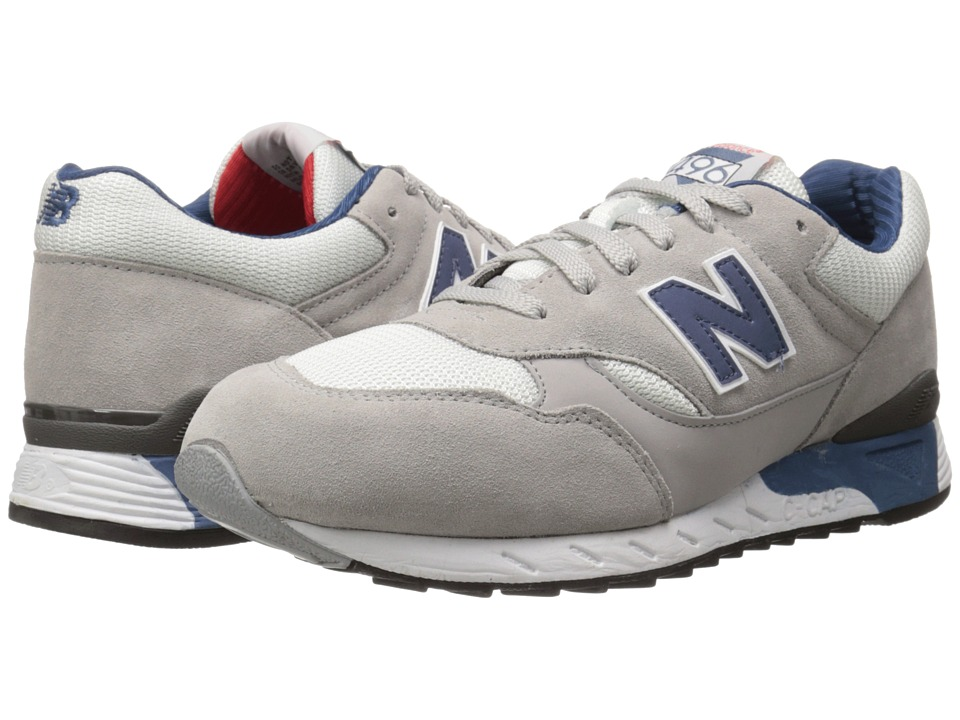 New Balance Classics CM496 Alloy/White/Suede/Mesh Mens Classic Shoes