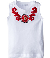 Dolce & Gabbana Kids - Floral Macrame Applique Jersey Tee (Toddler/Little Kids)