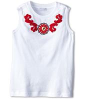 Dolce & Gabbana Kids - Floral Macrame Applique Jersey Tee (Big Kids)