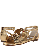 Dolce & Gabbana Kids - Silk/Leather Sandal (Little Kid/Big Kid)