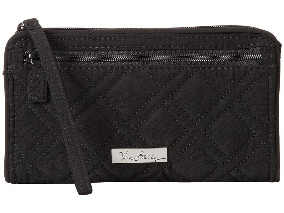 Vera Bradley Front Zip Wristlet Classic Black Wristlet Handbags
