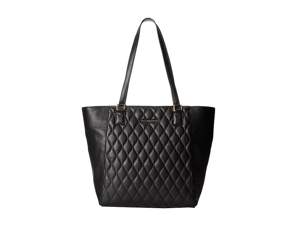 Vera Bradley Quilted Ella Tote Black Tote Handbags