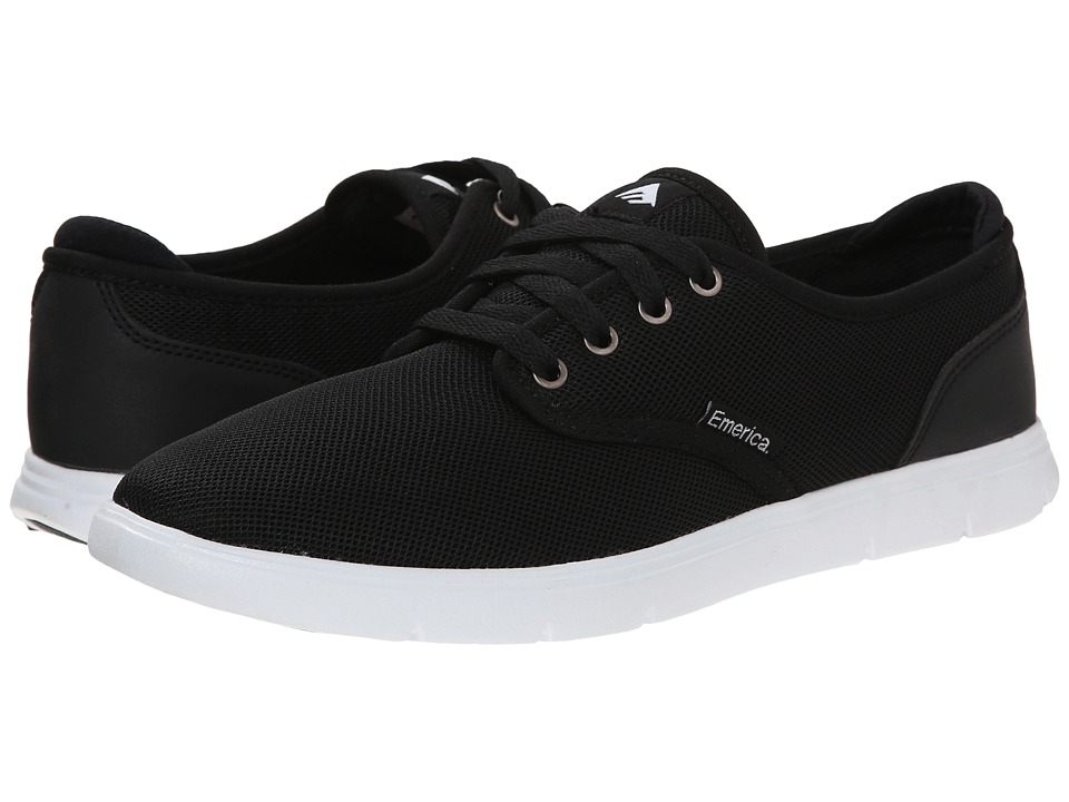 Emerica - Wino Cruiser LT (Black/White) Mens Skate Shoes