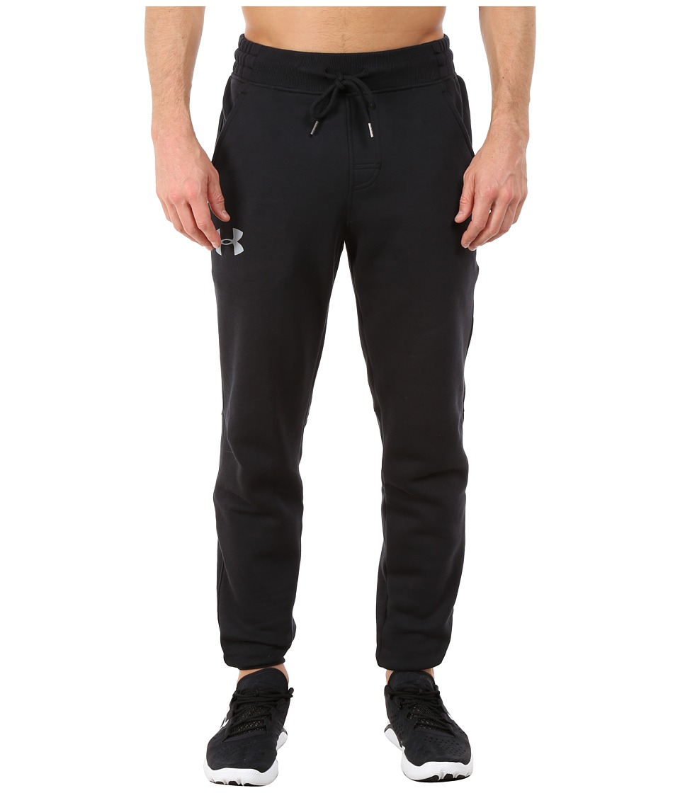 Under Armour - Rival Cotton Jogger (Black/Steel) Mens Casual Pants