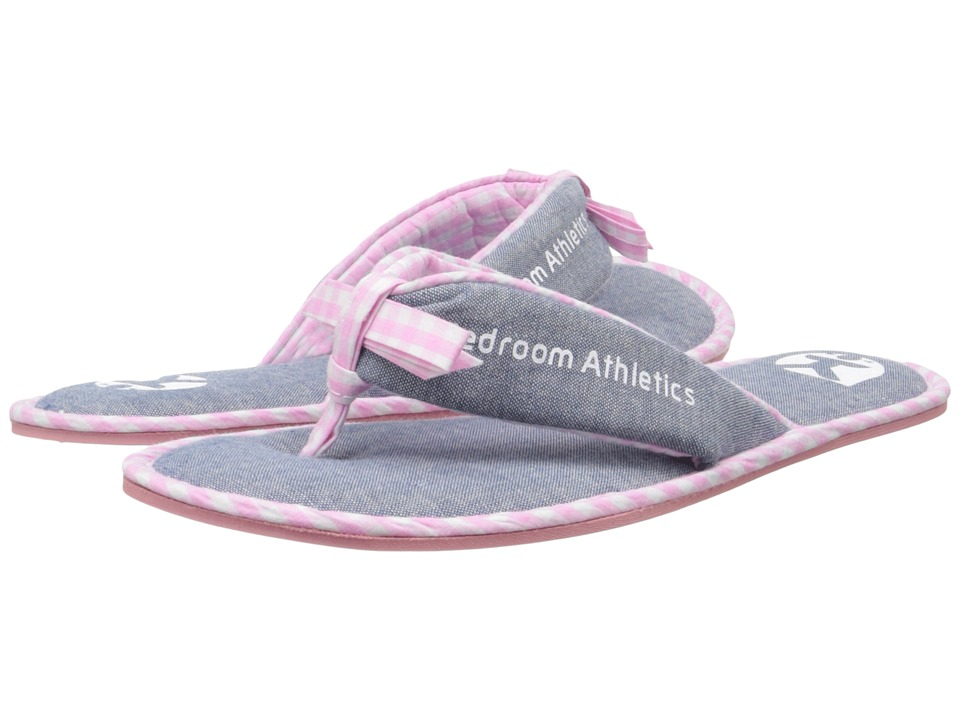Bedroom Athletics Anna Washed Chambray/Soft Pink Womens Slippers