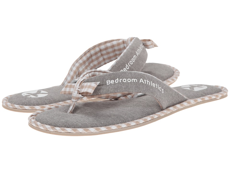 Bedroom Athletics Anna Bleached Chambray/Natural Womens Slippers
