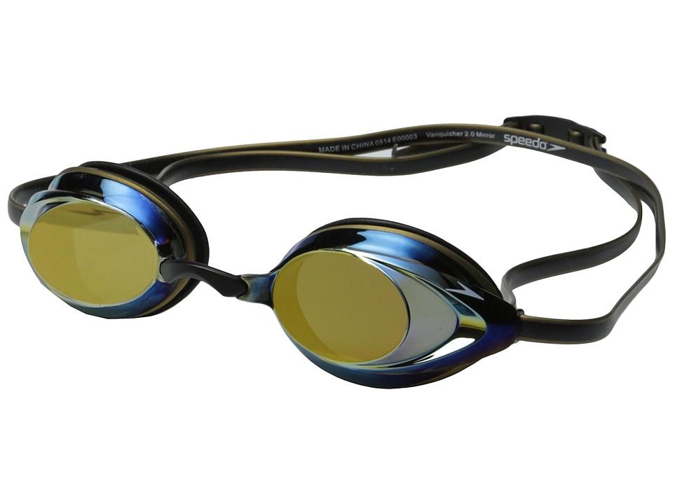 Speedo Vanquisher 2.0 Mirrored Deep Gold Water Goggles