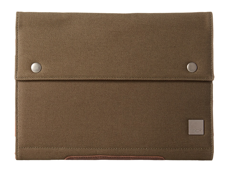 KNOMO London Balham Knomad Portable Organizer for the iPad Air 10 Olive Wallet