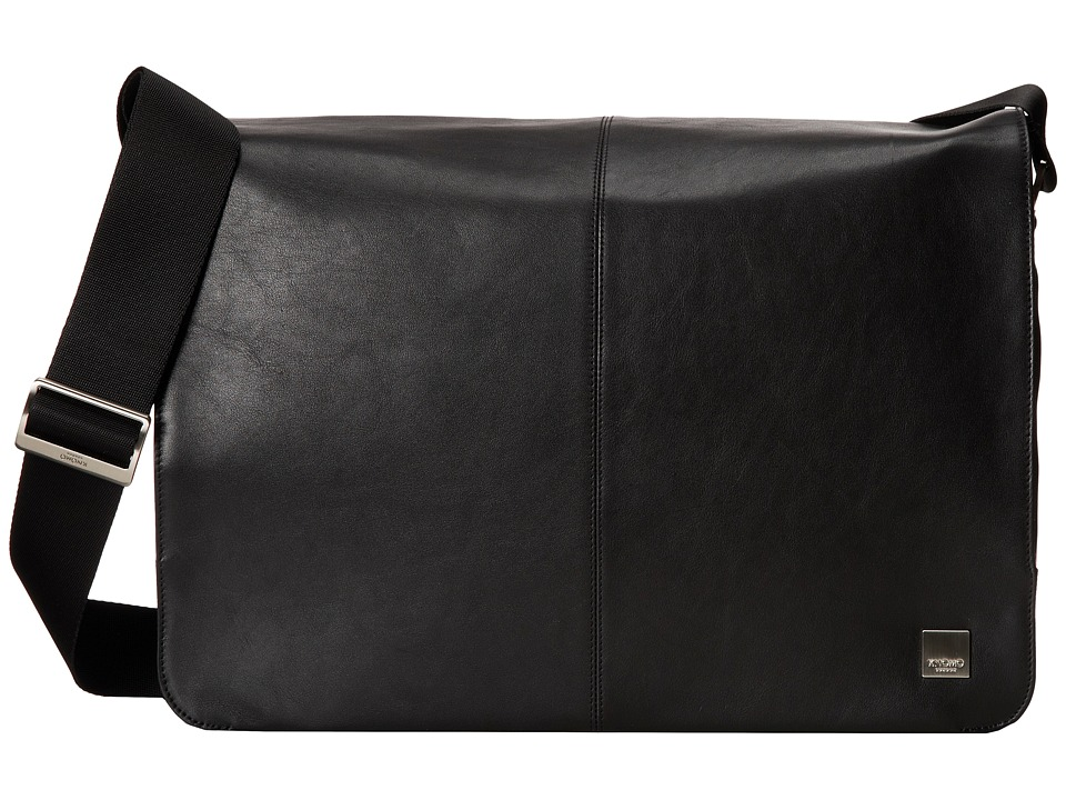 KNOMO London Brompton Bungo 15.6 Expandable Messenger (Black) Messenger Bags
