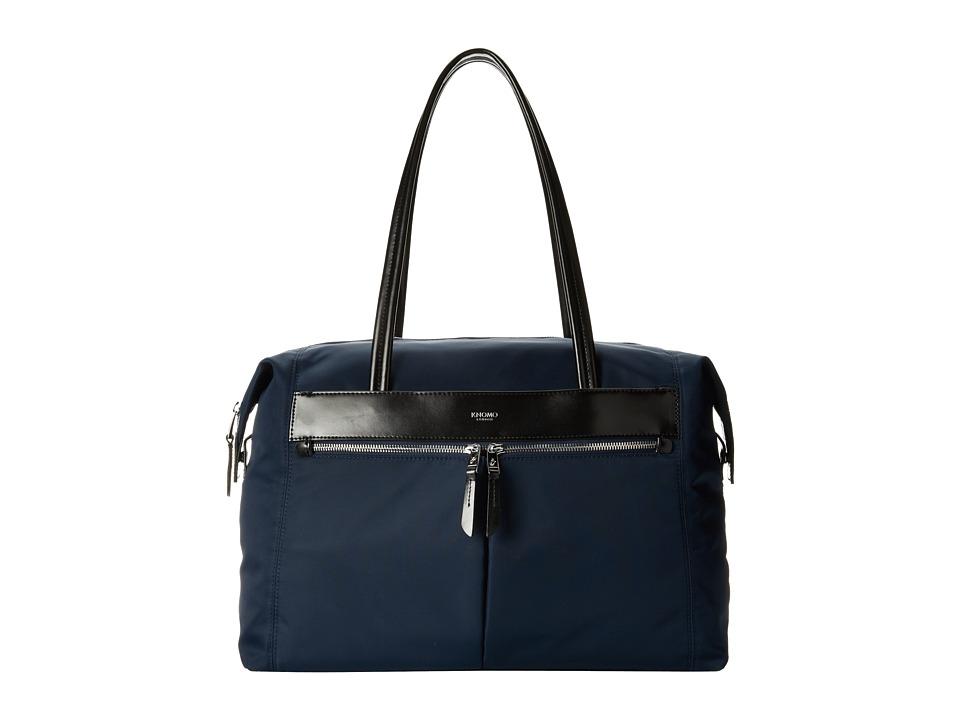 KNOMO London - Curzon Laptop Shoulder Tote (Navy) Tote Handbags
