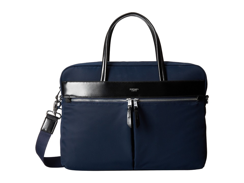 KNOMO London - Hanover Slim Laptop Brief (Navy) Luggage