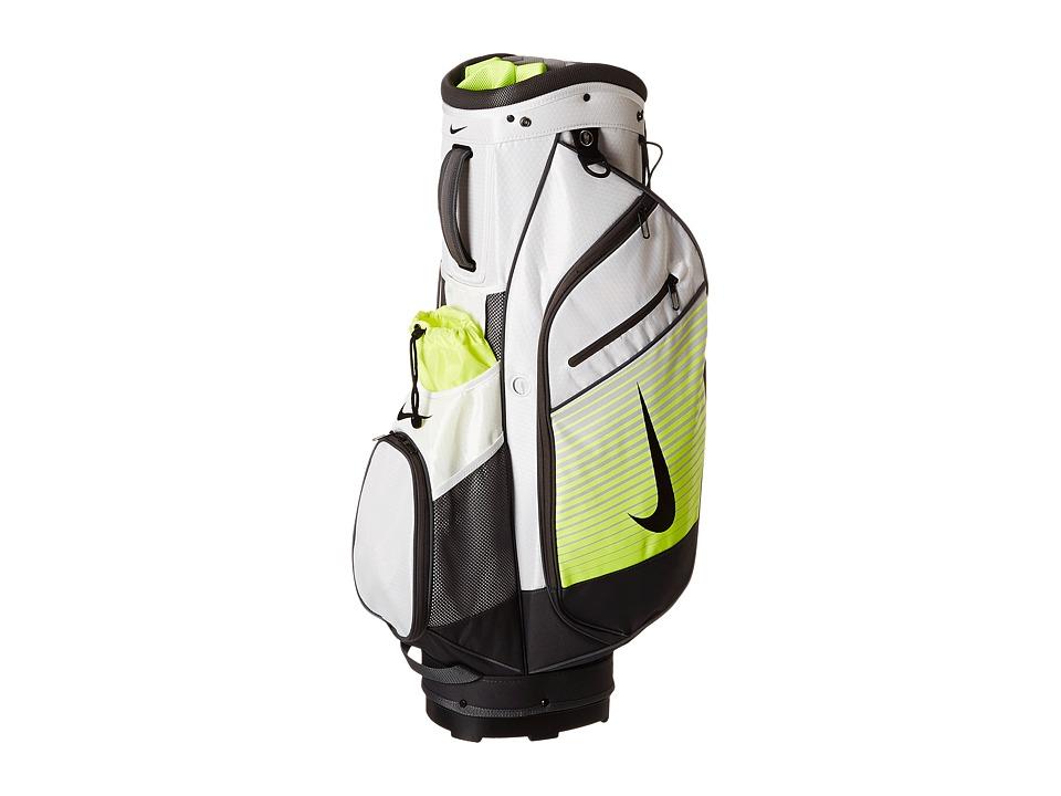 Nike Golf - Sport Cart III Cart Bag (White/Black/Volt) Duffel Bags
