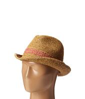 Hat Attack - Raffia Crochet Fedora w/ Inset Trim