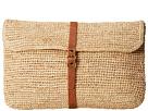 Hat Attack Raffia Crochet Clutch (Natural/Leather Belt)