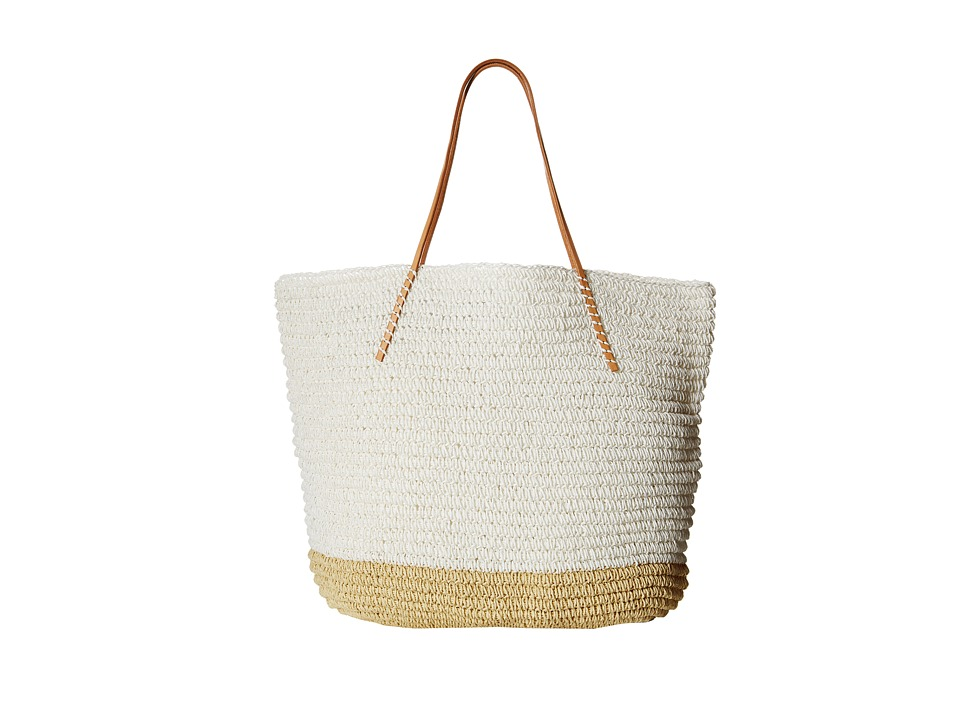 Hat Attack Twisted Colorblock Tote White Tote Handbags