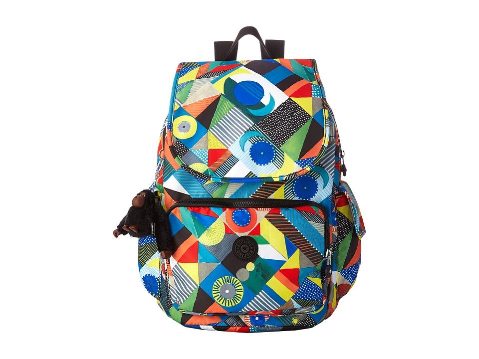 Kipling Ravier Printed Backpack Abstract Beauty Backpack Bags