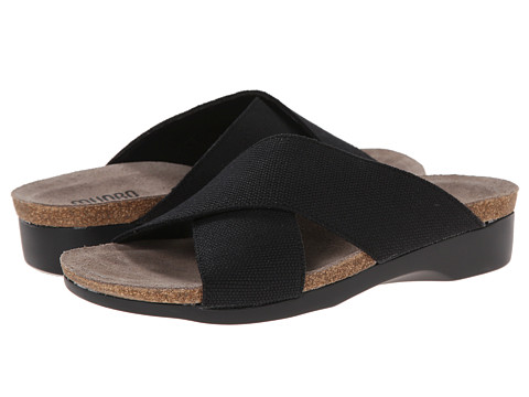 Munro American - Gia (Black Fabric) Women's Slide Shoes